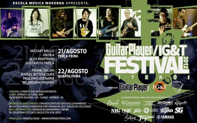 22/08 ( QUARTA – 19h30) – Paulinho Guitarra no Guitar Player Festival