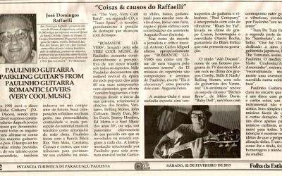 """Jornal Folha da Estância traz resenha sobre o disco """"Romantic Lovers"""""""